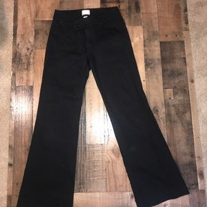 White House Black Market black jeans/slacks 8 EUC